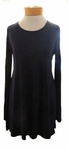 Eileen Fisher Stretch Silk Jersey Scoop Neck Tunic - Midnight - SOLD OUT