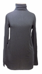 Eileen Fisher Tencel Cashmere Stretch Knit Funnel Neck Top - Black - (Size XS)