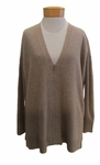 Eileen Fisher Undyed Cashmere V-Neck Boxy Cardigan - Almond - SOLD OUT
