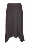 "Eileen Fisher Viscose Jersey 26"" Knee Length Flared Skirt - Black - (Size S)"