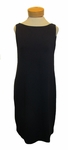 Eileen Fisher Viscose Jersey Reversible Ballet Neck Shift Dress - Midnight