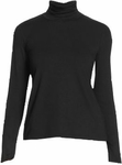 Eileen Fisher Viscose Jersey Scrunch Neck Top - Black - SOLD OUT