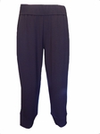 Eileen Fisher Viscose Jersey Slouchy Crop Pant - Black - (Size L)