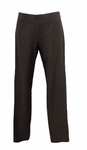 Eileen Fisher Washable Stretch Crepe Slim Pant with Yoke - Graphite - (Size S)