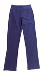 Eileen Fisher Washable Stretch Crepe Slim Ankle Pant w/ Yoke - Midnight
