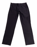 Eileen Fisher Washable Stretch Crepe Slim Cropped Pant - Black