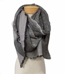 Eileen Fisher Wool Modal Aphrodite Jacquard Square Scarf - Ash