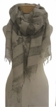 Eileen Fisher Wool Modal Bands Striped Scarf