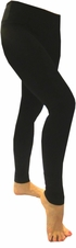 Hard Tail Flat Waist Full Length Leggings - Black