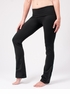 Hard Tail Supplex Rolldown Slim Bootleg Pant - Black