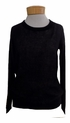 Margaret O'Leary Perforated Sweater - Black