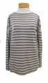 Margaret O'Leary Striped Bateau Neck - Anthracite