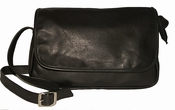 Leather Handbag American Made # 507 Black