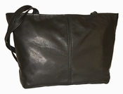 Leather Handbag  American Made #514-S Black