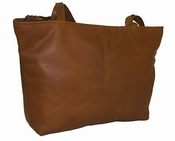 Leather Handbag American Made #514-S Medium Brown