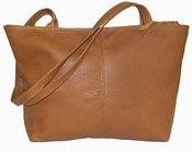 Leather Handbag  American Made #514-S Tan