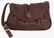 Leather Handbag Made in USA  #405 Medium Brown