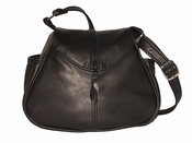 Leather Handbag Made in USA # 511 Black