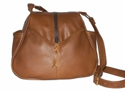Leather Handbag Made in USA # 511 Tan