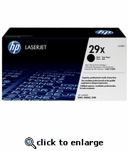 New Genuine HP C4129X /HP 29X/ Black Laser Toner, HP LJ 5000/ HP LJ 5100 Series