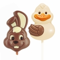 Easter Chocolate Lollipops - 30 Count