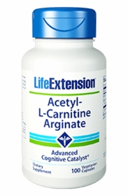 ACETYL-L-CARNITINE ARGINATE - Life Extension 100 Caps - Boosts Mitochondrial Energy Production - Lower Prices for 4 or More