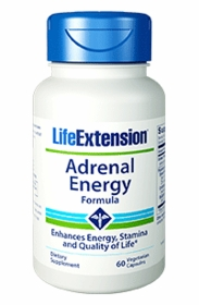ADRENAL ENERGY FORMULA - Life Extension - 60 Vegetarian Caps