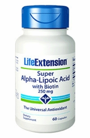 ALPHA LIPOIC ACID (250mg) - Super Alpha Lipoic Acid with Biotin - 60 Caps (250mg)