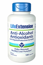 Anti-Alcohol Antioxidants with HepatoProtection Complex - 100 capsules - TwinPak