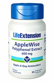 APPLEWISE POLYPHENOL EXTRACT - Life Extension - 30 Vegetarian Caps (600mg)