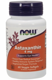 ASTAXANTHIN COMPLEX (4mg) - Now Foods - 60 Veggie Softgels