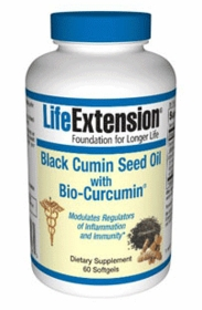 BLACK CUMIN SEED OIL WITH BIO-CURCUMIN - BCM-95 Bio-Curcumin - Life Extension 60 Softgels