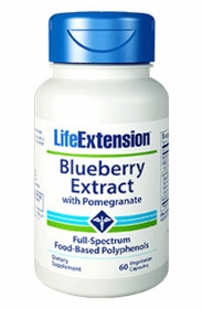 BLUEBERRY EXTRACT WITH POMEGRANATE - Life Extension - 60 Vegetarian Caps