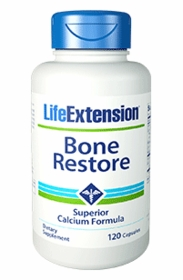 BONE RESTORE - Life Extension's Highly Absorbable Calcium with FruiteX B OsteoBoron - Twin Pak