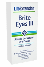 BRITE EYES III - New Formula - Amino, Antioxidant Eye Drops - 2 Vials (5 ml each)