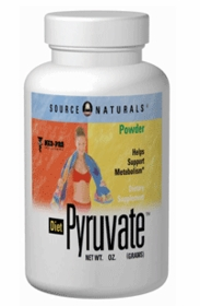 DIET PYRUVATE POWDER - Source Naturals (3oz) - 3-Pak