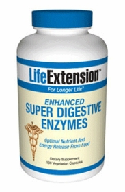 ENHANCED SUPER DIGESTIVE ENZYMES - Life Extension (100 Vegetarian Capsules)