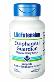 ESOPHAGEAL GUARDIAN - Life Extension - 60 Chewable Tabs - Natural Berry Flavor