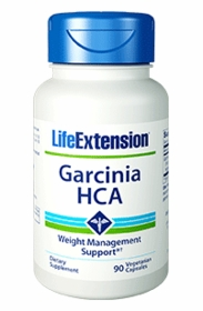 GARCINIA HCA - Life Extension - 90 Vegetarian Caps (500mg) - TwinPak