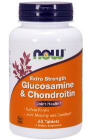 GLUCOSAMINE AND CHONDROITIN - Extra Strength - NOW Foods - 120 Tabs