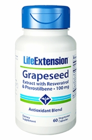 Grapeseed Extract with Resveratrol & Pterostilbene  (100mg)