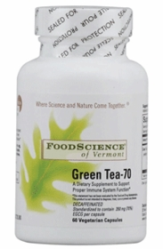 GREEN TEA - 70 - Food Science 70% EGCG per Capsule, 60 Vegicaps - Lower Prices for 4 or More
