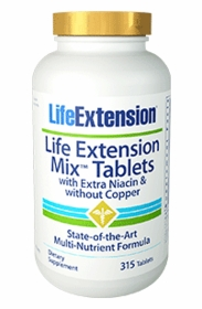 LE MIX TABLETS EXTRA NIACIN, NO COPPER (315 Tabs) - Quantity Discount Price for 4 Bottles