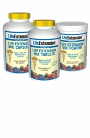 Life Extension Vitamins - Life Extension Mix (LE Mix) - Tabs, Caps, and Powder