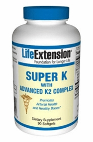 VITAMIN K - SUPER K ADVANCED K2 COMPLEX (2200 mcg) with MENAQUINONE-4 and MENAQUINONE-7 - 90 softgels
