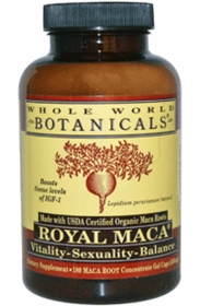 MACA - ROYAL MACA - 180 Gel Caps, 500mg - Certified Organic Maca for Hormone Balance, Thyroid and Energy