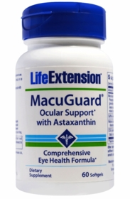 MacuGuard Ocular Support with Astaxanthin - 60 Softgels