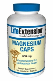 MAGNESIUM (500mg) - Life Extension - 100 Caps - Twin Pak