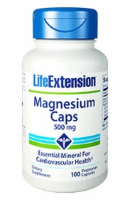 MAGNESIUM (500mg) - Life Extension - 100 Caps - TwinPak