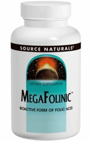MEGA-FOLINIC - Source Naturals - Highly Bioavailable Form of Folic Acid (800mcg) 120 Tabs